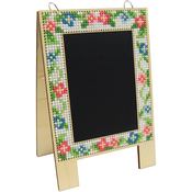 Wood Chalkboard Easel Punched For Cross Stitch Kit
