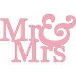 """Mr & Mrs 2""""X3"""" - Kaisercraft Word Die"""