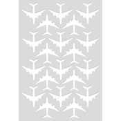 """Planes - Kaisercraft Card Creations C6 Card Front Die 4""""X6"""""""