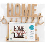 """16.25""""X12.25""""X1.5"""" - Beyond The Page MDF Home Sweet Home Standing Words"""