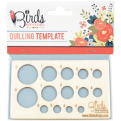 """4.75""""X2.75"""" - Quilling Template"""