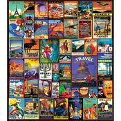 "Travel The World - Jigsaw Puzzle 550 Pieces 18""X24"""