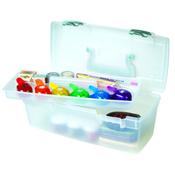 "13""X6""X5.625"" Translucent W/Aqua Mist - ArtBin Essentials Lift-Out Box W/Handle"