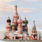 "15.75""X15.75"" 14 Count - Moscow St Basil's Cathedral Counted Cross Stitch Kit"