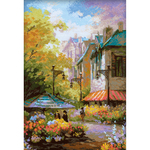 """10.25""""X15"""" 14 Count - Flower Street Counted Cross Stitch Kit"""