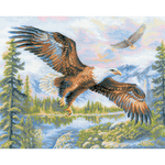 "19.75""X15.75"" 14 Count - Free Fall Counted Cross Stitch Kit"