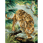 """11.75""""X15.75"""" 14 Count - Owner Of The Jungle Counted Cross Stitch Kit"""