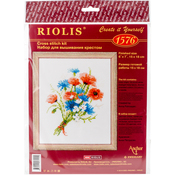 """6""""X8"""" 14 Count - Bouquet With Cornflowers Counted Cross Stitch Kit"""