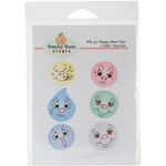 Happy New Year - Peachy Keen Stamps Clear Face Assortment 6/Pkg
