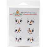 Everyday Snow Character - Peachy Keen Stamps Clear Face Assortment 6/Pkg