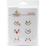 Winter - Peachy Keen Stamps Clear Face Assortment 6/Pkg