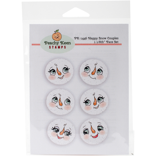 Happy Snow Couples - Peachy Keen Stamps Clear Face Assortment 6/Pkg