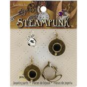 Tea Time - Steampunk Metal Accents 4/Pkg