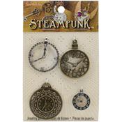 Clocks 1 - Steampunk Metal Accents 4/Pkg