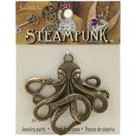 Octopus - Steampunk Metal Pendant 1/Pkg