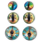Dragon Eyes Brights - Steampunk Acrylic Accents 6/Pkg