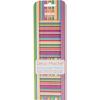 "Bright Stripes - Deco Mache Paper 10.25""X14.75"" 3/Pkg"