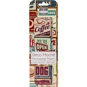 """Vintage Food Signs - Deco Mache Paper 10.25""""X14.75"""" 3/Pkg"""