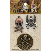 Skulls & Crossbones - Steampunk Metal Accents 3/Pkg