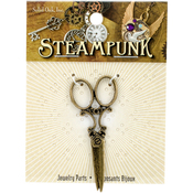 Large Scissors - Steampunk Metal Pendant 1/Pkg