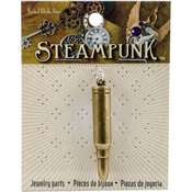 Bullet - Steampunk Metal Pendant 1/Pkg
