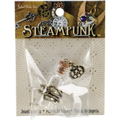 Snake Wrapped Bottle - Steampunk Metal Pendant 1/Pkg