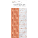 Copper Industrial - Simply Creative Decoupage Paper 18.8cm X 35cm 4/Pkg