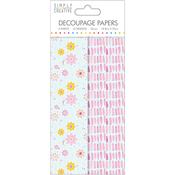 Watercolour Floral - Simply Creative Decoupage Paper 18.8cm X 35cm 4/Pkg