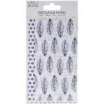 Purple Feathers - Simply Creative Decoupage Paper 18.8cm X 35cm 4/Pkg