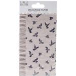 Birds - Simply Creative Decoupage Paper 18.8cm X 35cm 4/Pkg