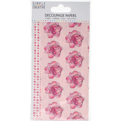 Watercolour Roses - Simply Creative Decoupage Paper 18.8cm X 35cm 4/Pkg