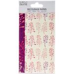 Bold Foliage - Simply Creative Decoupage Paper 18.8cm X 35cm 4/Pkg