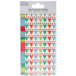 Bright Bunting - Simply Creative Decoupage Paper 18.8cm X 35cm 4/Pkg