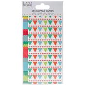Bright Bunting - Simply Creative Decoupage Paper 18.8cm X 35cm 4/Pkg
