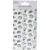 Tea Cups - Simply Creative Decoupage Paper 18.8cm X 35cm 4/Pkg