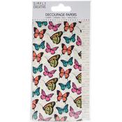 Vibrant Butterflies - Simply Creative Decoupage Paper 18.8cm X 35cm 4/Pkg