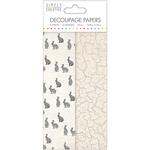 Hares - Simply Creative Decoupage Paper 18.8cm X 35cm 4/Pkg