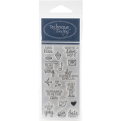 """Planner - Kiss - Technique Tuesday Clear Stamps 2""""X4"""""""