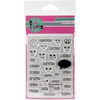 """Moody - Pink & Main Clear Stamps 3""""X4"""""""