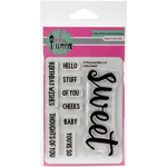 "Hello Sweet - Pink & Main Clear Stamps 3""X4"""