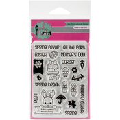 "Planning Spring - Pink & Main Clear Stamps 3""X4"""