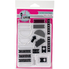 """Planner Tabs - Pink & Main Clear Stamps 4""""X6"""""""