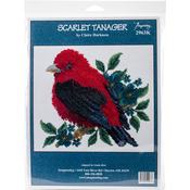 "8""X7.25"" 14 Count - Scarlet Tanager Counted Cross Stitch Kit"