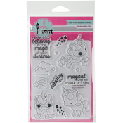 "Magical Unicorns - Pink & Main Clear Stamps 4""X6"""