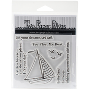 "Sail Away - Two Paper Divas Clear Stamps 6.5""X4.5"""