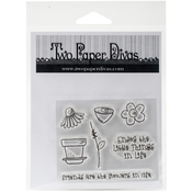 "Friends & Flowers - Two Paper Divas Clear Stamps 6.5""X4.5"""
