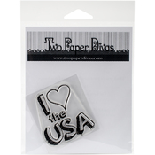 "USA - Two Paper Divas Clear Stamps 6""X4.5"""