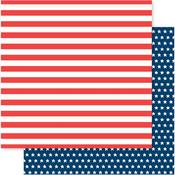 Flag Stripes Paper - American The Beautiful - Pebbles