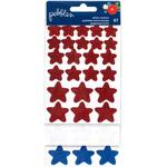 Red, White & Blue Star Stickers - American The Beautiful - Pebbles