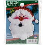 "3""X4"" - Santa Face Ornament Felt Applique Kit"